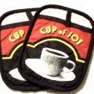 Coffee Themed Pot Holders Ritz