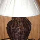 Basket Weave Table Lamp and Lamp Shade