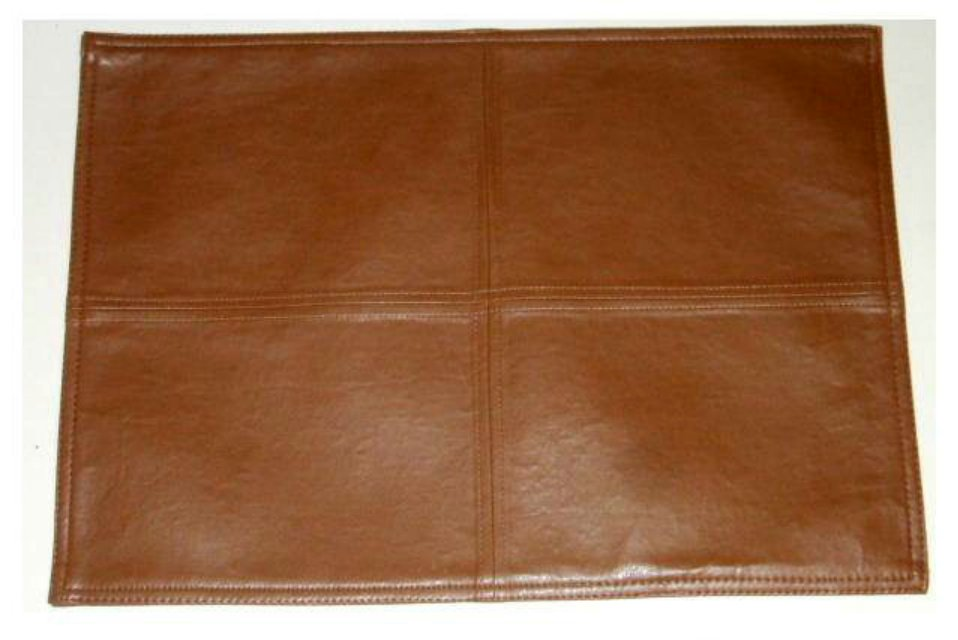 Brown Faux Leather Placemats Stylish Kitchen Decor