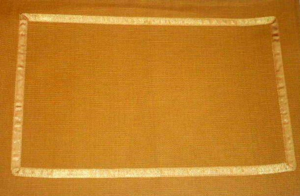 Gold Placemats With Ribbon Borders