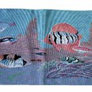 Blue Tapestry Tropical Fish Fabric Placemats
