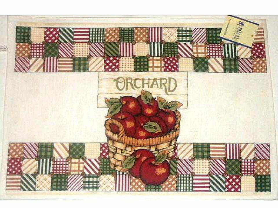 Basket Of Apples Placemats Apple Kitchen Decor
