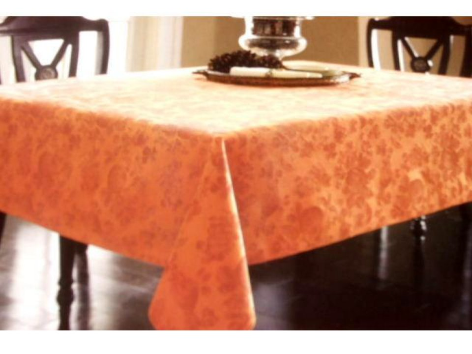 Copper Damask Fruit Fabric Tablecloth