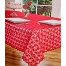 Red Hearts Lace Valentines Tablecloth Square