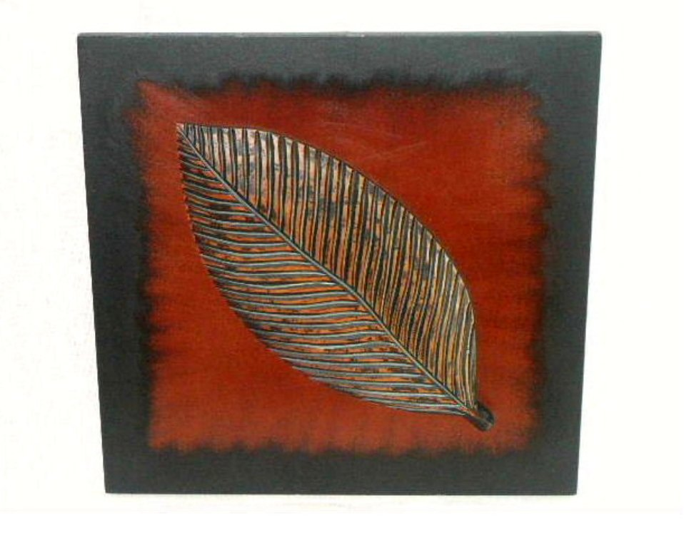 Tropical Leaf Wall Plaque