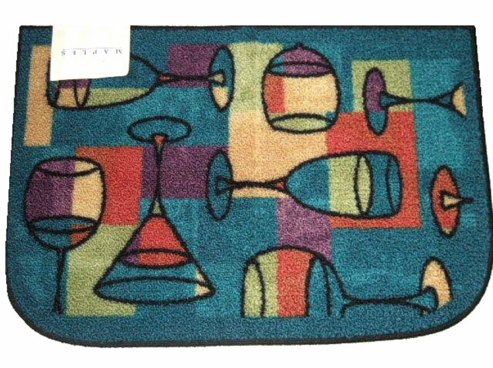 Wine Glasses Cocktails Slice Throw Rug Bar Mat