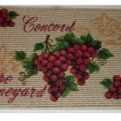 Grape Kitchen Rug Concorde Grapes Mat