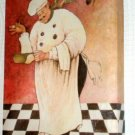 Fat French Chef Canvas Print Chefs Picture