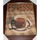 Coffee Themed Kitchen Picture Espresso Wall Decor
