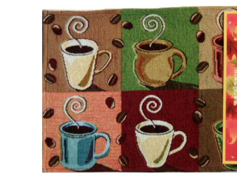 Coffee Cups Tapestry Table Runner