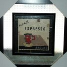 Espresso Picture Cup of Coffee Framed Glass Wall Art