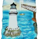 3D Nautical Lighthouse Beach Scene Wall Sculpture