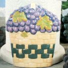 Grapes Paper Towel Holder Large Ceramic Grape Decor