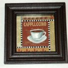 Cappuccino Wall Art Coffee Shadowbox