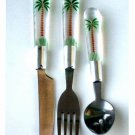 Tropical Palm Trees Flatware Set
