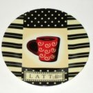 Latte Coffee Ceramic Wall Plate