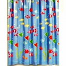 Blue Tropical Fish Shower Curtain Beach Bath Decor