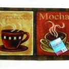 Coffee Cups Kitchen Rug Cappuccino Mocha Mat