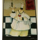 Fat Waiter Chef Kitchen Picture Plaque Wall Decor