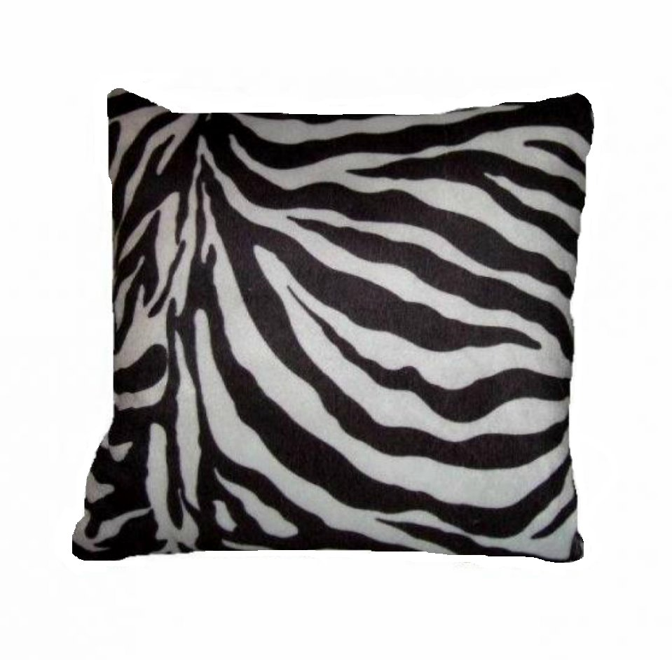Zebra Stripes Toss Pillow African Safari Jungle Decor