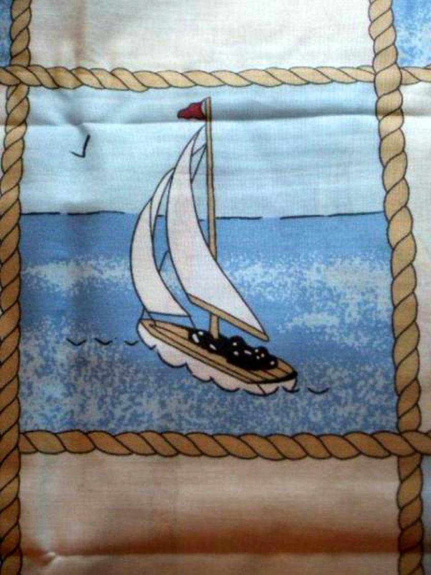 2 Nautical Sailboats Pillow Cases