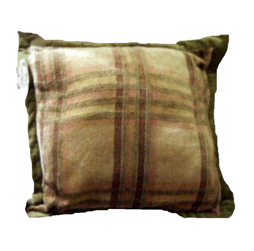 Plaid Pillow Chris Madden Buttons
