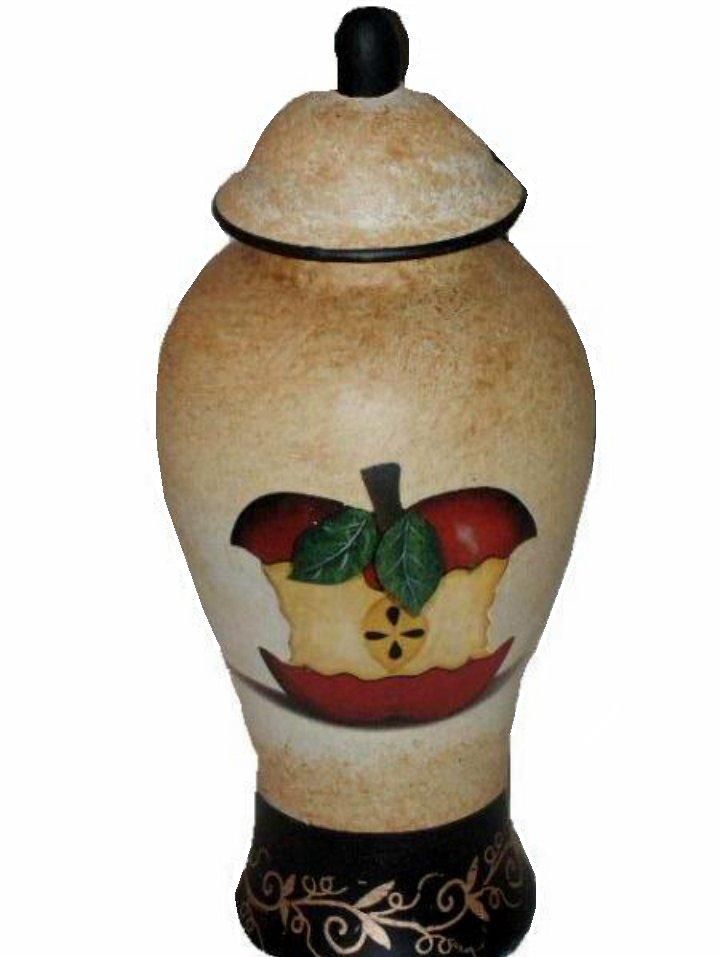 Apple Themed Decorative Ginger Jar
