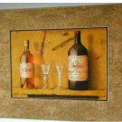 Tuscan Wine Glasses Corkscrew Print Wall Decor