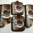 Coffee Kitchen Linens Set Oven Mitts Potholders