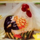 Country Rooster Ceramic Napkin Holder