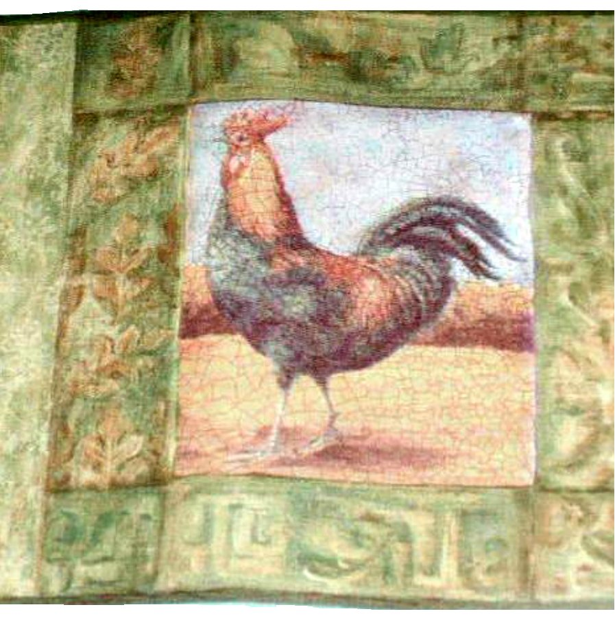 Roosters wall border rooster wallpaper country decor for Country wall mural