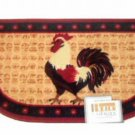 Red Rooster Themed Kitchen Rug Slice Mat