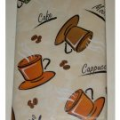 Coffee Themed Tablecloth Cappuccino Mocha Cafe