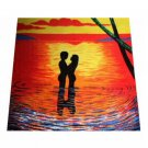 Tropical Palm Trees Beach Bath Towel