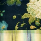 Floral and Plaid Window Valance Blue Green