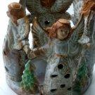Angels Ceramic Candle Holder