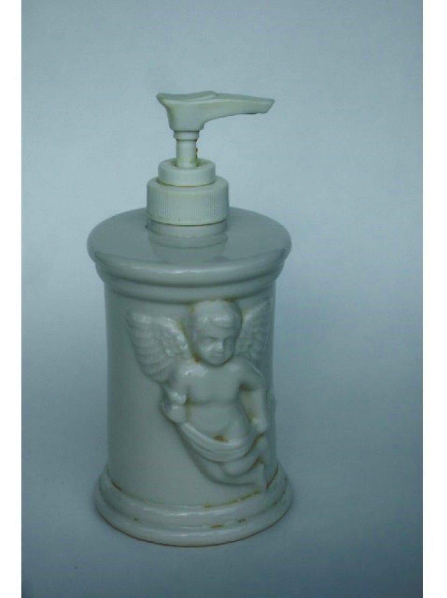 Angel Cherub Soap Pump Lotion Dispenser Ceramic