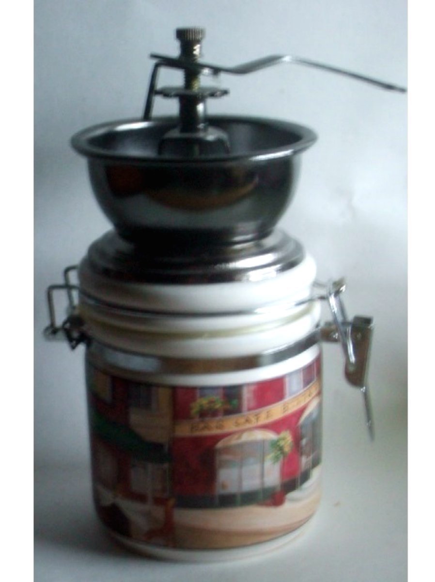 Ceramic Canister With Coffee Grinder Top