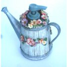 Flower Garden Floral Watering Can Resin Soap Pump Lotion Dispenser