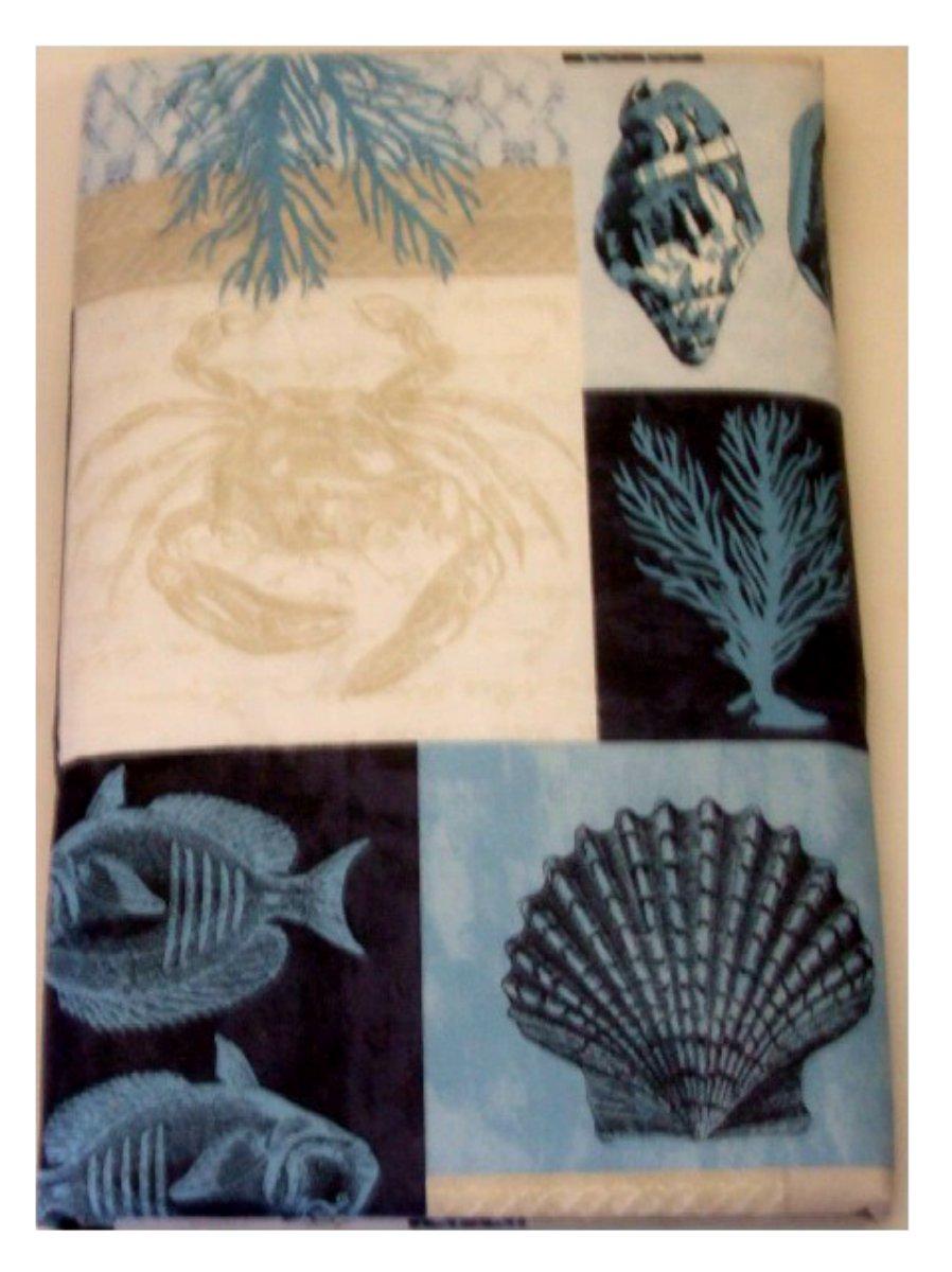 Beach Themed Seashells Starfish Tablecloth