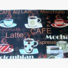 Coffee Cups Kitchen Rug Espresso Latte Mocha Mat