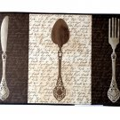 Knife Fork Spoon Silverware Kitchen Comfort Mat