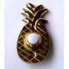 Brass Pineapple Push Button Doorbell Plate