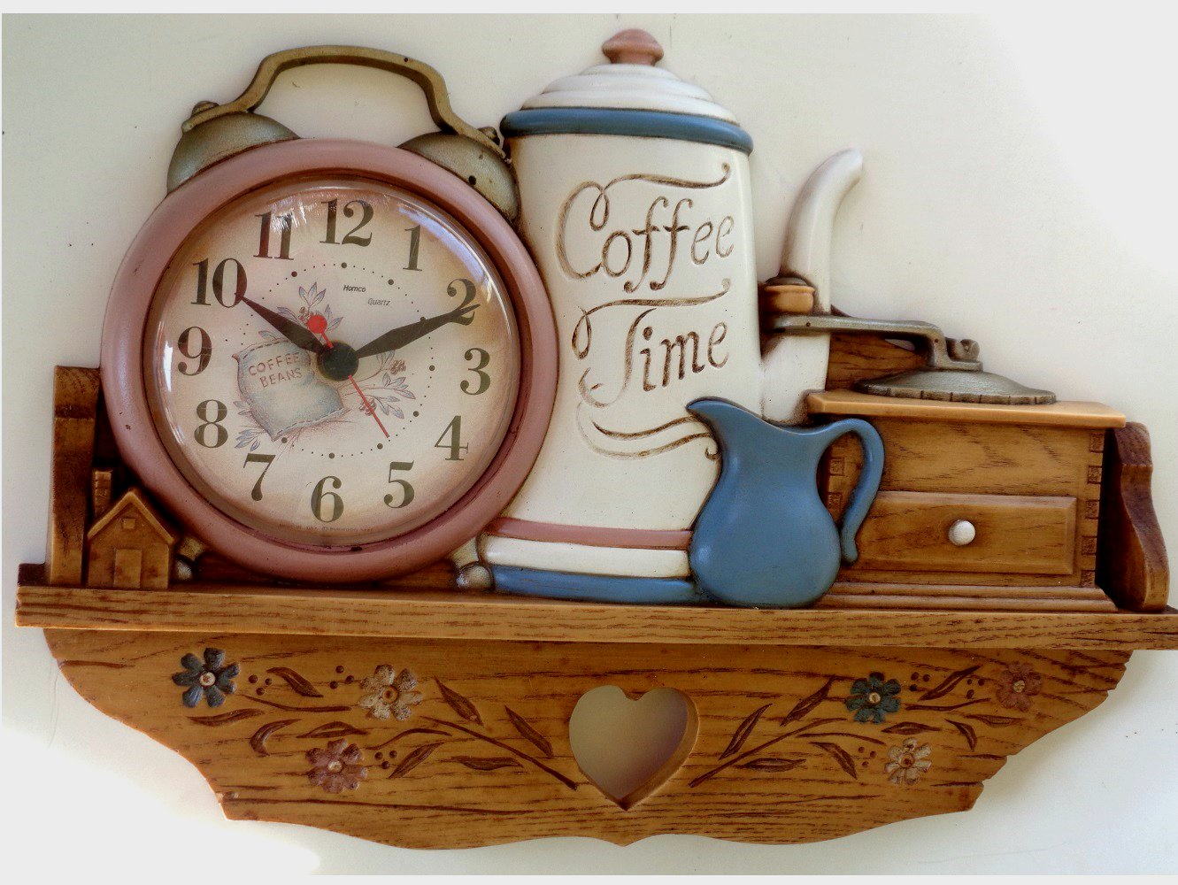 Coffee Pot Clock Vintage Kitchen Wall Decor