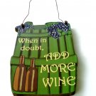 Wine Bottles Grapes Wood Sign Tuscan Kitchen Décor