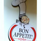 Fat Chef Kitchen Sign Plaque Bon Appetit