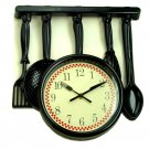 Utensils Kitchen Wall Clock