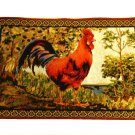 Country Rooster Placemats Set Tapestry Mats