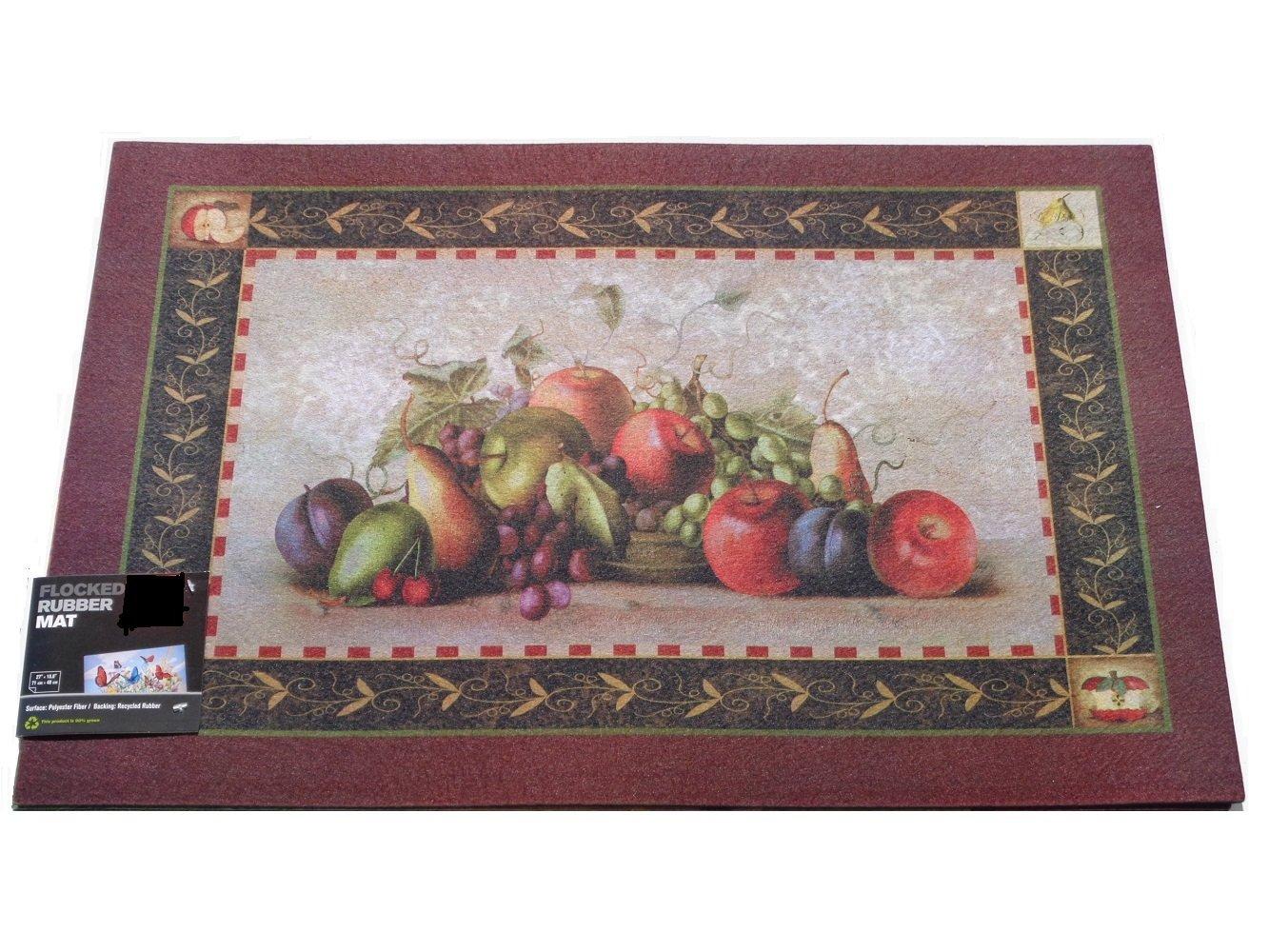 Fruit Themed Apples Grapes Mat