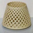 Home Interiors Ceramic Lattice Candle Shade Topper
